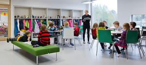 Saunalahti school in Espoo, Finland Photo by Andreas Meichsner for Verstas architects